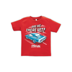 Mecum Toddler Are We There Yet Red Short Sleeve T-Shirt - Front