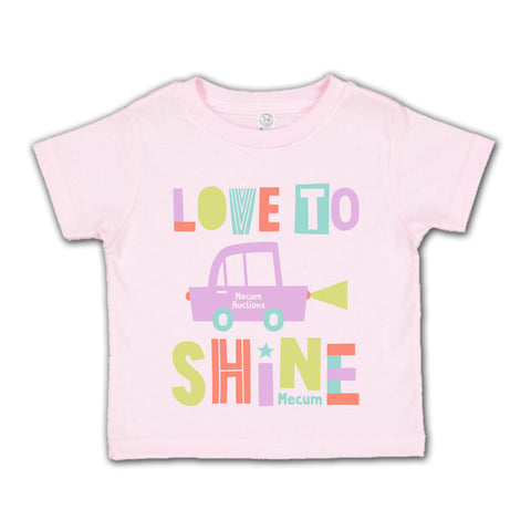 picture of mecum auctions 2020 love to shine t-shirt