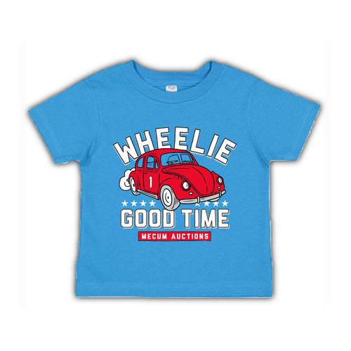 2021 Mecum Youth Blue Wheelin' Good Time T-Shirt - Front