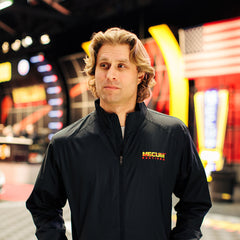 Mecum Mens Black Long Sleeve Windbreaker - Front - Lifestyle