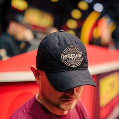Mecum Mens Black Power Relaxed Hat - Front - Lifestyle