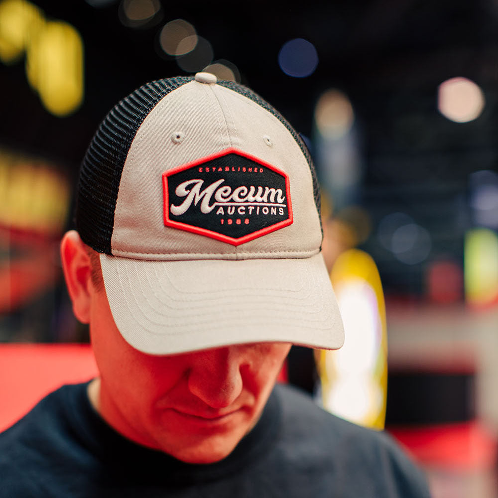 Mecum Mens Diner Dad Gray And Black Hat - Front - Lifestyle