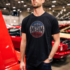 Man wearing 2020 Mecum Men's MA Emblem T-Shirt