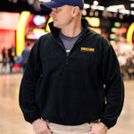 Man wearing 2020 Mecum Men's Black Fleece Quarter Zip Pullover