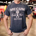 Man wearing 2020 Mecum Men's Road Tour America T-Shirt