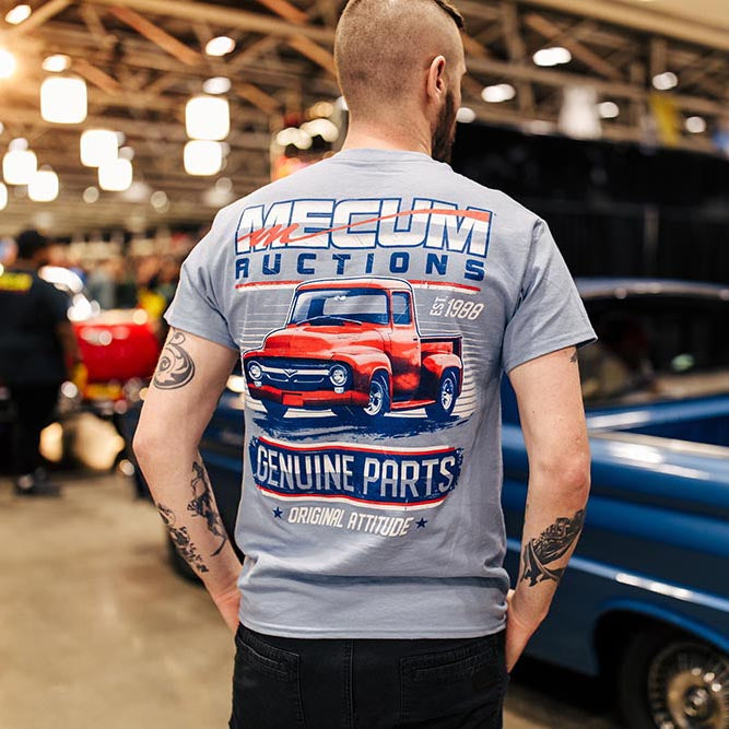 Mecum Mens Genuine Parts Short Sleeve T-Shirt - Back - Lifestyle