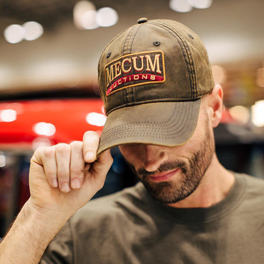 Mecum Mens Waxed Cotton Tradition Hat - Front - Lifestyle