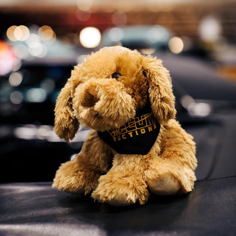 Mecum Novelty Plush Bandana Dog - Front - Lifestyle