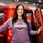 Woman wearing 2020 Mecum Woman's Auxiliary T-Shirt