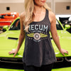 Woman wearing 2020 Mecum Woman's Champion Tank