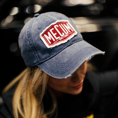 Mecum Womens Navy Simple Hat - Front - Lifestyle