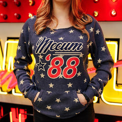 Mecum Womens Patriot Navy Star Pullover - Front - Lifestyle