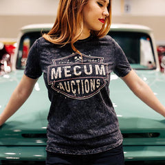 Mecum Womens Midnight Rider Acid Wash T-Shirt - Front - Lifestyle
