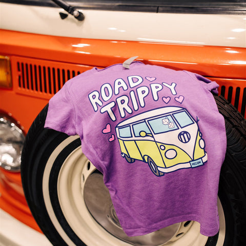 mecum auctions 2020 road trippy t-shirt on vintage car wheel