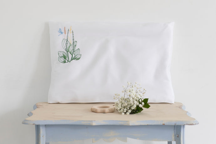 Pillow with pillowcase for toddlers