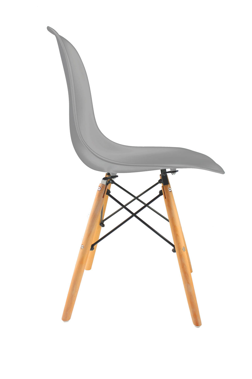 Silla wooden Tower gris madera