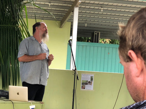 Christopher Nesbitt speaks at the Tropical Agriculture Conference