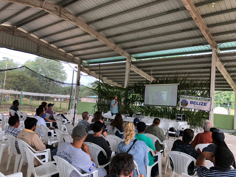 Taylor Walker speaks at the Tropical Agriculture Conference in Belize