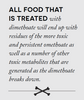 All food that is treated with dimethoate will end up with residues of the more toxic and persistent omethoate as well as a number of other toxic metabolites that are generated as the dimethoate breaks down.