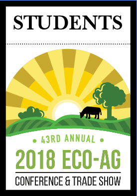 2018 Eco-Ag Conference & Trade Show — Student Registration
