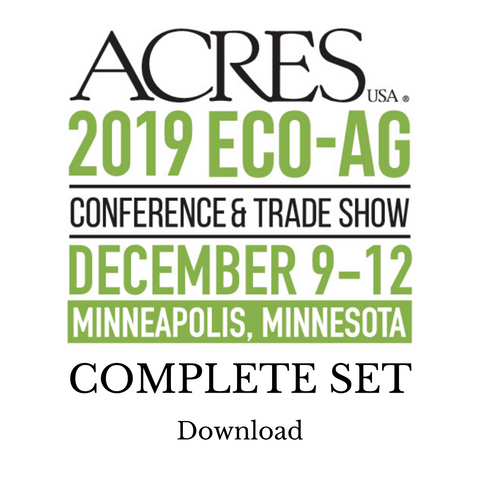 2019 Eco-Ag Conference Workshop MP3 Complete Set