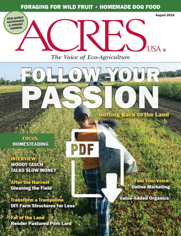 Acres U.S.A. Magazine August 2018 Front Cover