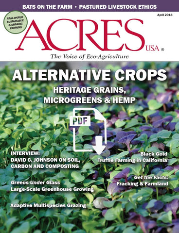 Acres U.S.A. Magazine April 2018 Front Cover