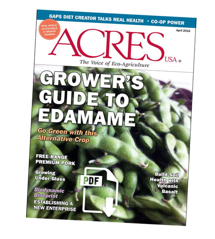 Acres U.S.A. Magazine April 2016 Front Cover