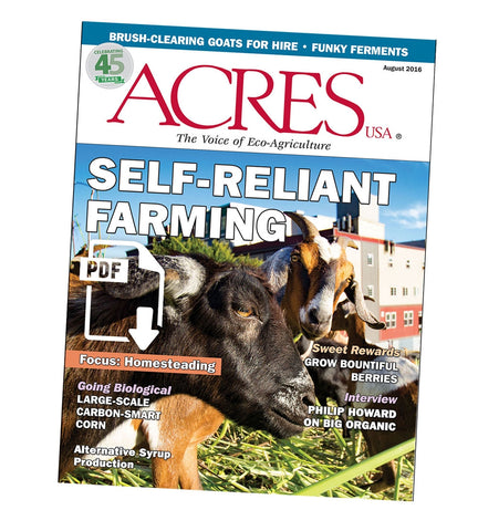 Acres U.S.A. Magazine August 2016 Front Cover
