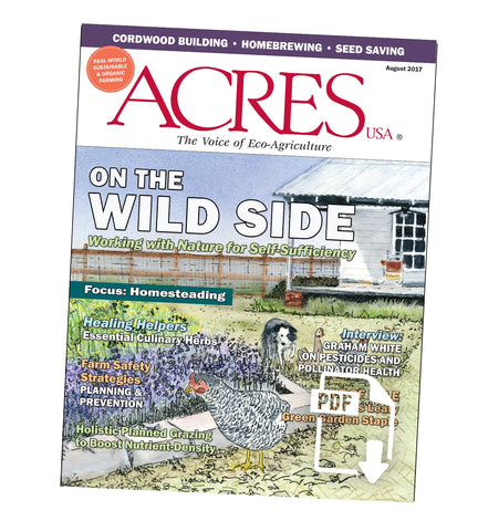 Acres U.S.A. Magazine August 2017 Front Cover