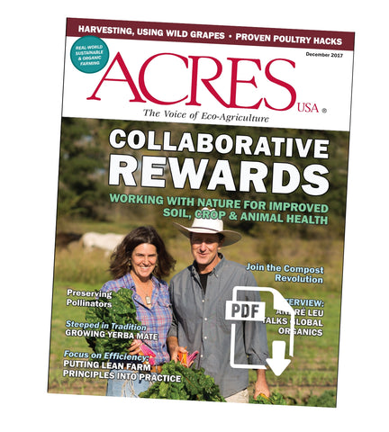 Acres U.S.A. Magazine December 2017 Front Cover