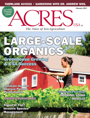 Acres U.S.A. Magazine February 2017 Front Cover
