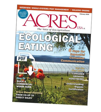 Acres U.S.A. Magazine February 2016 front cover