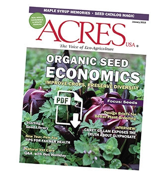 Acres U.S.A. Magazine January 2018 Front Cover