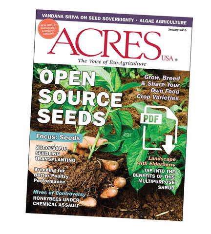 Acres U.S.A. Magazine January 2016 Front Cover
