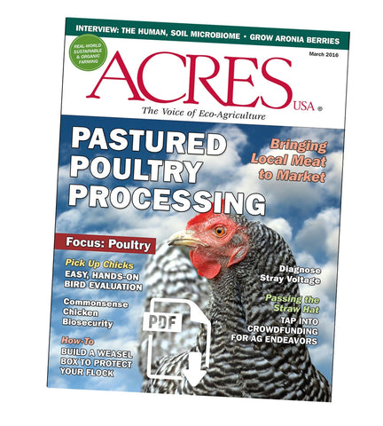 Acres U.S.A. Magazine March 2016 Front Cover