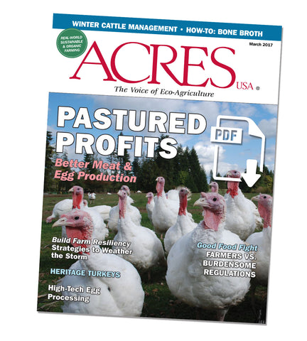 Acres U.S.A. Magazine March 2017 Front Cover