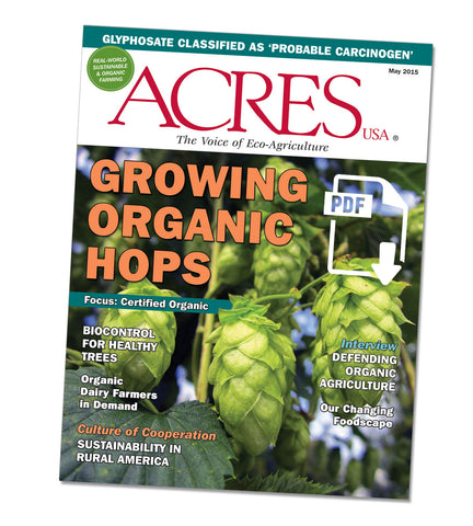 Acres U.S.A. Magazine May 2015 Front Cover