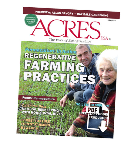 Acres U.S.A. Magazine May 2017 Front Cover