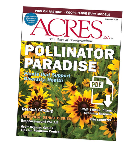 Acres U.S.A. Magazine November 2016 Front Cover