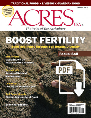 Acres U.S.A. Magazine October 2018 Front Cover