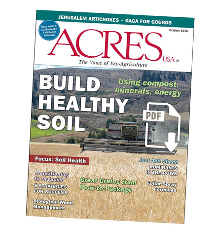 Acres U.S.A. Magazine October 2016 Front Cover