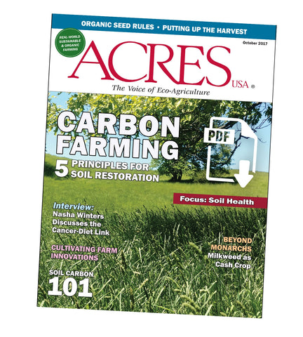 Acres U.S.A. Magazine October 2017 Front Cover