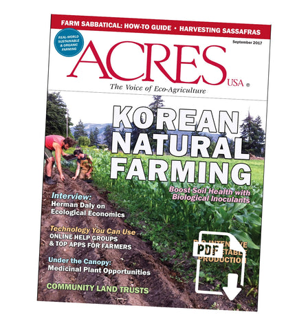Acres U.S.A. Magazine September 2017 Front Cover