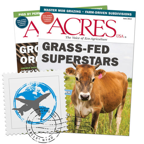 Acres U.S.A. Magazine International Airmail Subscription
