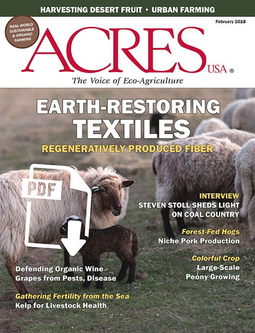 Acres U.S.A. Magazine February 2018 Front Cover