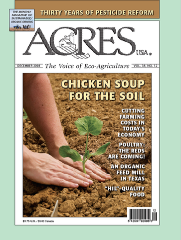 Acres U.S.A. Magazine December 2008 Front Cover