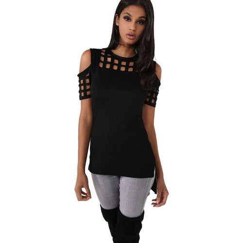 Caged Cold Shoulder Tee