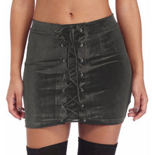 Short Laced Velvet  Skirts