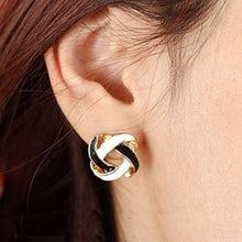 Black and White Twist Earrings